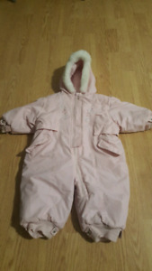 12 month girls one piece snow suit