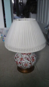 Table Lamp with Flowers on it
