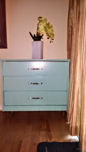 Antique solid wood dresser, refinished and protected