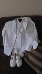 White suit size 8 and white shoes size 7