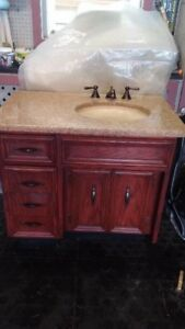 Beautiful Bathroom Vanity Granite Countertop