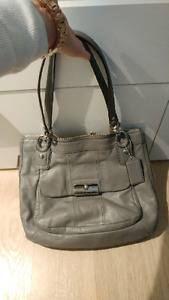 Authentic Grey Coach handbag