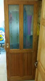 2 wooden doors