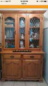 Reduced!! Nice Solid Oak China Display Cabinet