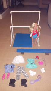 """18"""" gymnast doll and accessories**NEW PRICE**"""