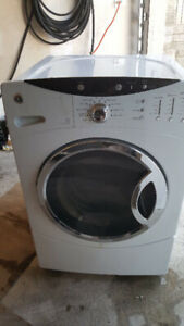 GE FRONT LOAD STACK ABLE WASHER &DRYER SET WHITE