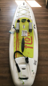 SUP Board, Paddle, Safety Strap, and Travel Kit