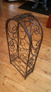 Wine Making Supplies -  Beautiful Wine Rack Solid Wrought Iron
