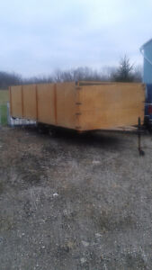 Older 4 place Sled Trailer