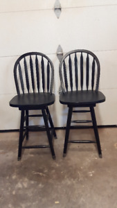 wooden swivel  chairs