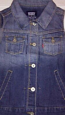 New Levi's Vest Girls 12-13 years Large Blue Jean Lightscape