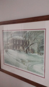 "Trisha Romance ""Winter Twilight "" Framed"