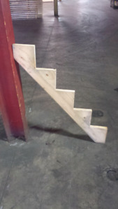 Couple Pairs of Pine Stair Stringers ( 4 and 5 Steps )