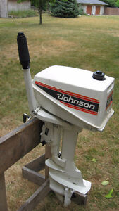 4.5HP JOHNSON PARTS MOTOR ONLY 1981