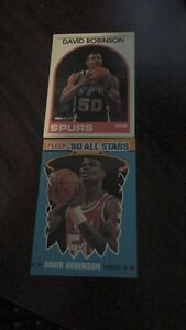 2 1990 David Robinson Basketball Rookie Cards