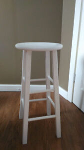 White kitchen stool