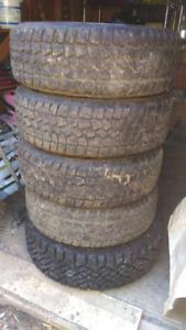 Saxon snowblazer winter tires on rims