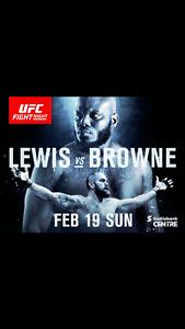 UFC Tickets - Sec 72 Row 8 Seats 8-11