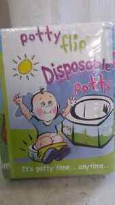 Seven Disposable Potties