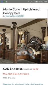 Need gone! Make an offer!! Monte Carlo Wrought Iron bed for sale
