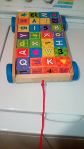 $5 - alphabet/number/shapes blocks