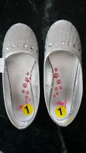 Girls Silver Sparkly Dress Shoes - Brand New