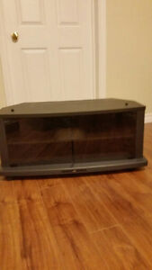 JVC Black TV Stand on Wheels