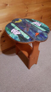 Stained-glass mosaic decorative table