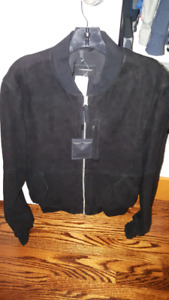 MACKAGE SOLID SUEDE JACKET size 40 Brand New with receipt