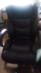 Office Brown Leather Chair