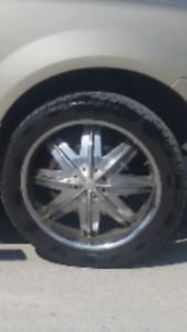 FORD PICKUP RIMS NEW TIRES 22