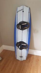 Wake board with bindings