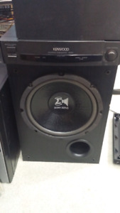 Kenwood powered Amplified Sub woofer