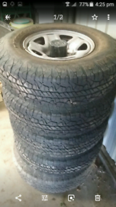 Toyota Landcruiser wheels and tyres x5 suit 100/105 series