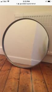 IKEA Grundtal stainless steel round mirror $25