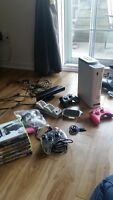 Console Xbox360 Pro, Kinect, Manettes, Microphone, Clavier etc..