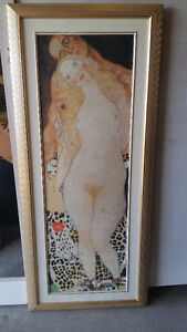 Adam and Eve, 1917 by Gustav Klimt Replica