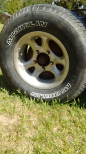 15x7 alloy wheels 5x5.5 michelin 235/75r15