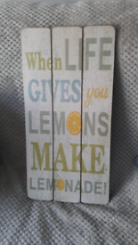 When Life Gives You Lemons- Wall Plaque