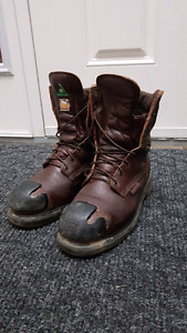 Redwing steel toe work boots 8.5 size
