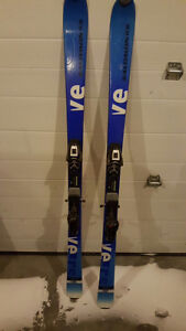 Adult skis and boots