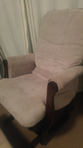 Well Loved GUC Espresso and Cream Glider & Footstool