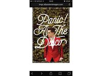2 X Panic! At the disco tickets - Cardiff Motorpoint arena - Friday 18th November
