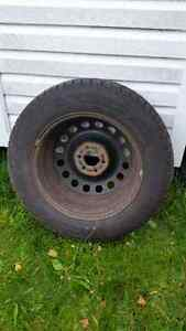 4 Goodyear Nordic Winter Studded Tires On Rims
