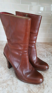 Brown Tommy Hilfiger leather boots