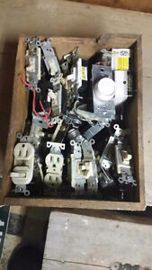 Assorted electrical switches and plugs