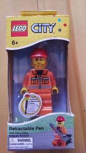 Lego City Retractable Pen - Construction Worker (Unopened)