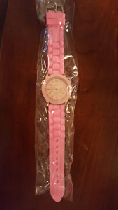 Ladies pink watch brand new never worn or used
