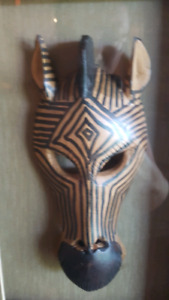 AFRICAN SHADOW BOX with Zebra