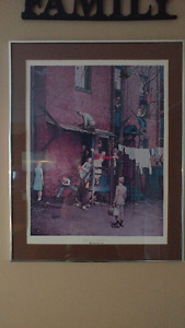 """Norman Rockwell framed print """"The Homecoming"""""""